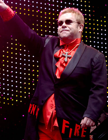 I didn't even have to open Photoshop to make clear that Elton John is obviously in league with Nazis from space.